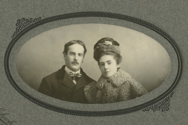 Carol and Mary Ellen Melcher (nee O'Brien) circa 1900