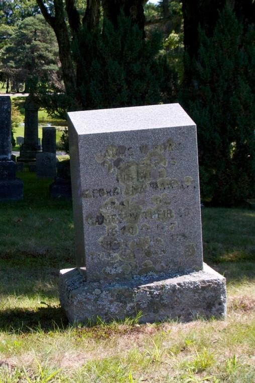 headstone of James, Georgianna, James Willis and Lily Pray