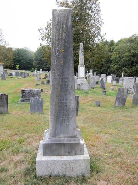 A tall headstone for Joseph Morse and Lucy Sylvester Morse