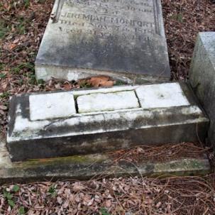 Fallen tombstone